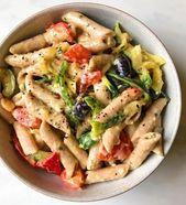 Salade de pâtes au yaourt aux herbes et à l'ail   – Recipe