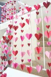 25 Super Sweet DIY Valentinstag Dekor Ideen – Dieses kleine blaue Haus   – diy valentines