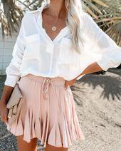 Swing + Shout Ruffle Mini Skirt – Blush