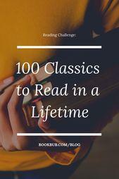Défi de la lecture: 100 classiques à lire de toute une vie   – BOOKS