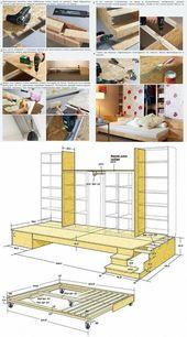 Mega Ikea Hack: Aus dem Billy und Kallax Regal wir…