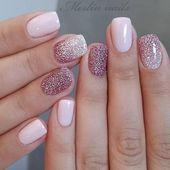 33 glitter gel nail ontwerpen voor korte nagels voor lente 2019