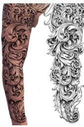 scroll tattoo sleeve – Google Search