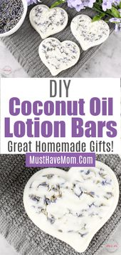 Lavender coconut oil lotion bars diy. This lotion …