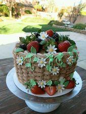 Strawberries in basket cake – Cakes, Cupcakes, Cookies & Pies