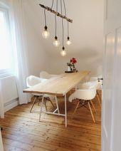 Tolle Einrichtungsidee für Esszimmer im Dachgesch…