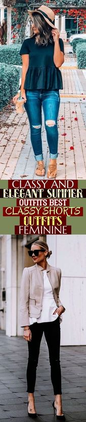 Noble und elegante Sommer-Outfits Beste noble Shorts-Outfits Feminin; #Mode…