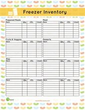 Freezer Inventory Printable Freezer Inventory Printable Pantry