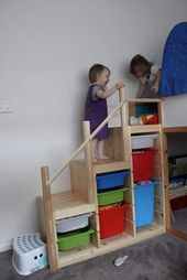 Lits superposés pour enfants avec escaliers