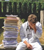 Stack Of Study Notes Taken During Medical Degree Great Idea For A