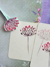 Dandelion rubber stamp, floral garden stamp, wild flower stamp, cottage wedding stationery, fairy journal supply, vintage flower decor – Stampin