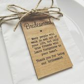 Bridesmaid Gifts,Wedding Table Decor, Rustic Wedding decor,Wedding place cards, Napkin Rings,Wedding gifts for guests,Place card