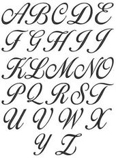 Italic alphabets A to Z An italic label for