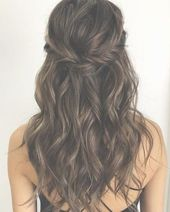 28 Captivating Half Up Half Down Wedding Hairstyles--- brunette hairstyle medium length with twists, vintage wedding theme, spring and fall weddings, ...