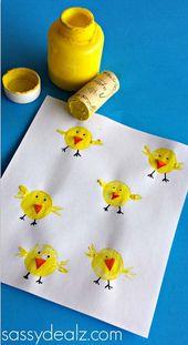18 Wunderschönes Basteln mit Kindern zu Ostern zum Thema Küken!