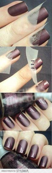 Me encanta el uso del esmalte de uñas mate en est…