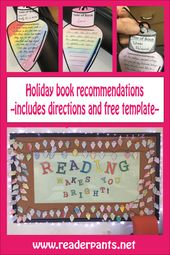 Sub-Friendly Library Activity and Holiday-Themed Bulletin Board Idea – Mrs. ReaderPants