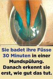 Photo of Ze baadt haar voeten gedurende 30 minuten in een mondwater. Dan realiseert ze zich alleen …