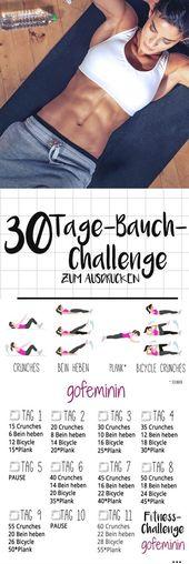 Die 30 Tage Bauch-Challenge: Tschüss Röllchen, hallo Sixpack!  – Gesundheit