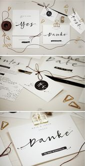 Wedding calligraphy in calligraphic style