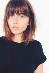 Kurzes Haar mit Fransen für rundes Gesicht – – #Kurzhaarfrisuren, #Fransen #für #Gesicht #Haar