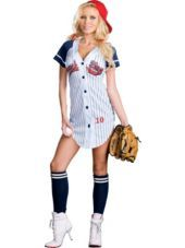 Grand Slam Baseball Beauty Costume for Adults - Halloween City ...