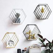 Nordic Style Iron Wall Hanging Shelf Rack