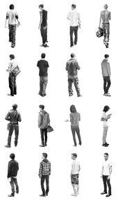 Schicke Staffage #fullbody Ihr braucht dringend mal wieder schöne Menschen in Euren Renderings? Bitteschön! ;) (graphite illustrations von Brian Bou…