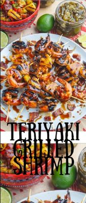 Teriyaki Grilled Shrimp  Today I somebody whatsoever author cooked meat on a lev…