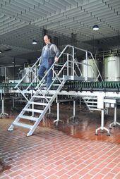 Übergang 45° 10 Stufen – 600 mm breit Alu-Überstieg mit Stufenbreite 600 mm