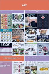 7 Day Diet Meal Plan For A Perfect Low Calorie Diet diet plan 1200 calorie diet …
