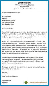 Here Is A Cover Letter Sample To Give You Some Ideas And