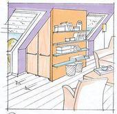 Dachschrage Nutzen Das Haus Apothekerschrank This Image Has Get 87 Repins Author Claudia Br In 2020 Dachschrage Nutzen Dachschrage Einbauschrank Dachschrage