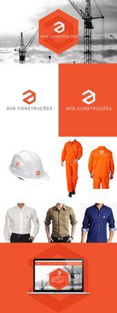 AVG opera en la industria de la construcción y estaba experimentando un momento de exp …   – Logo & Identity