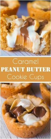 Caramel Peanut Butter Cookie Cups are an easy pean…