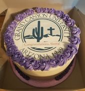 Grand Canyon University Graduation Cake Grand Canyon University Graduation Cakes University Graduation