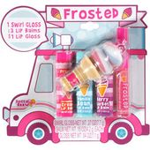 Frosted Ice Cream Truck Lip Gloss n Balm 5 Piece Set Tutti Fruity, Strawberry Cr…