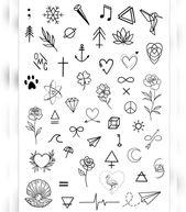 Winzige Dinge, die man verstecken oder an privaten Orten ablegen kann – #Tattoos #Ale – Zeichnung