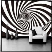 Black and white 3d wallpapers Set of pictures of Black and White Room Wallpapers