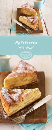 Apfelkuchen mit Grieß   – Kuchen, Torten, Backrezepte