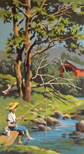 Vintage Collection Peinture A Numeros Pecheur Art Et Objets