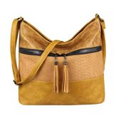 OBC Damen Tasche Shopper Crossbody Schultertasche Umhängetasche Leder Optik Crossover Henkeltasche Beuteltasche Handtasche Blau