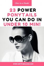 Looking for a chic refresh on the typical ponytail? These 23 different ponytails will give your ponytail some oomph, texture and style – fitting even …