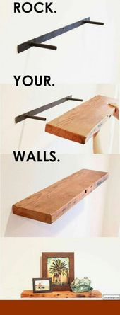 DIY Floating Shelves – 4 Most Simple Ideas: Floati…