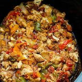 Crock Pot Chicken Fajitas mit Hähnchenbrust ohne Knochen und Tomatenwürfeln …
