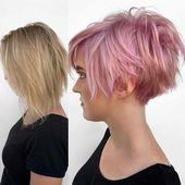 Neue Kurzhaarschnitte von Pixie und Bob für Damen - Moderne Frisuren 2019-2020 Kurzhaarschnitte haben in diesem Jahr sehr unterschiedliche Farben und Schattierungen. Neu, aufregend ...