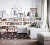"Bookcase, white, 31 1/2x11x41 3/4 """