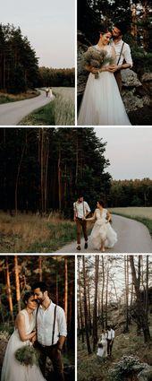 Begleiten Sie uns in den Wäldern, Teil 1: Magische Boho Waldhochzeit   – ♥ Hochzeitsfoto Ideen ♥