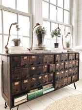 A New Apothecary Cupboard In The Sunroom