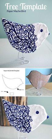 Machen Sie einen Paper Mache-Vogel, eine kostenlos…